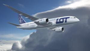 Boeing 787 Dreamliner w barwach narodowego przewoźnika PLL LOT. Fot. materiały LOT