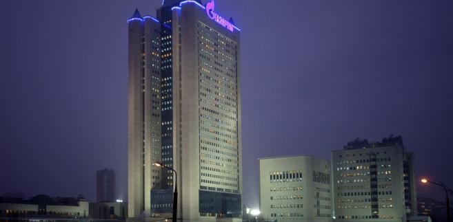 Siedziba spółki Gazprom w stolicy Rosji