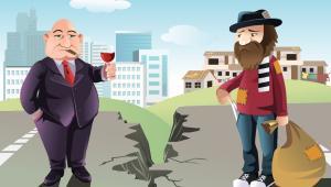 Kontrast między bogactwem i biedą