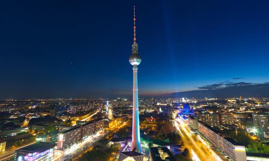 Berlin nocą, Niemcy.