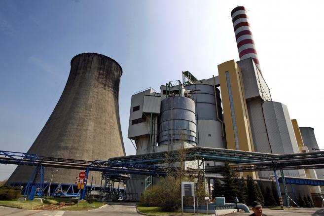 Łaziska Górne, elektrownia. Fot. PAP/Andrzej Grygiel/PAP