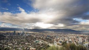 Widok na stolicę Chile, Santiago