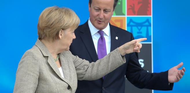 David Cameron i Angela Merkel