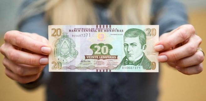 lempira, banknot z Hondurasu produkowany w Polsce przez PWPW