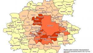 Średnie saldo kredytów mieszkaniowych - aglomeracja warszawska, źródło: BIK