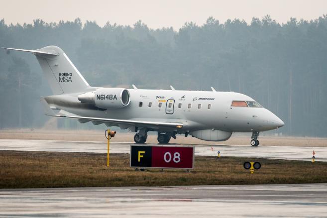 Najnowszy Samolot Rozpoznania Morskiego firmy Boeing. (tż/cat) PAP/Tytus Żmijewski