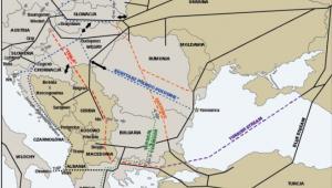 Propozycje szlaków nowych dostaw gazu do Europy Środkowej i Południowo-Wschodniej. Źródło: OSW