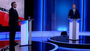 Debata prezydencka z udziałem Andrzeja Dudy oraz Bronisława Komorowskiego, TVP/PAP/Jan Bogacz