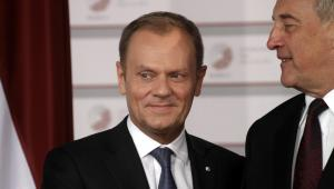 Szef Rady Europejskiej Donald Tusk na szczycie w Rydze