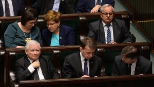 Posłowie PiS w trakcie ostatniego dnia 96. posiedzenia Sejmu