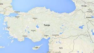 Współczesna mapa Turcji. Google Maps.