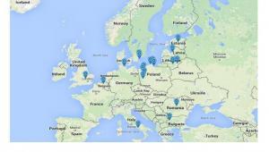 Mapa manewrów wojskowych NATO, przeprowadzanych w dniach 5-28 czerwca 2015. Źródło: European Leadership Network