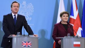Premier Beata Szydło i premier Wielkiej Brytanii David Cameron