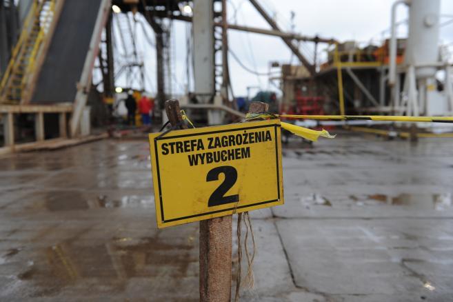 PGNiG, odwiert do przemysłowego wydobycia gazu ziemnego w Siemidarżnie koło Trzebiatowa (mb/mr) PAP/Marcin Bielecki