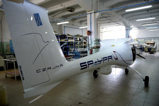Dron na platformie ultralekkiego samolotu Czajka fot. (dd/zuz) PAP/Darek Delmanowicz