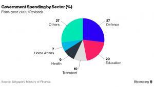 Struktura wydatków rządowych Singapuru w roku fiskalnym 2009 (po rewizji danych)