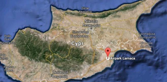 Cypr, Larnaka, źródło: Google Maps