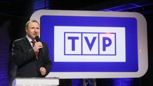 Prezes TVP Jacek Kurski, podczas konferencji Zarządu TVP S.A. nt. podsumowania pierwszego kwartału 2016 roku, 27 bm. w Warszawie. (mr) PAP/Paweł Supernak