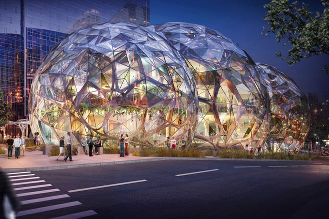 Nowa siedziba Amazona w Seattle - wizualizacje, źródło: nbbj