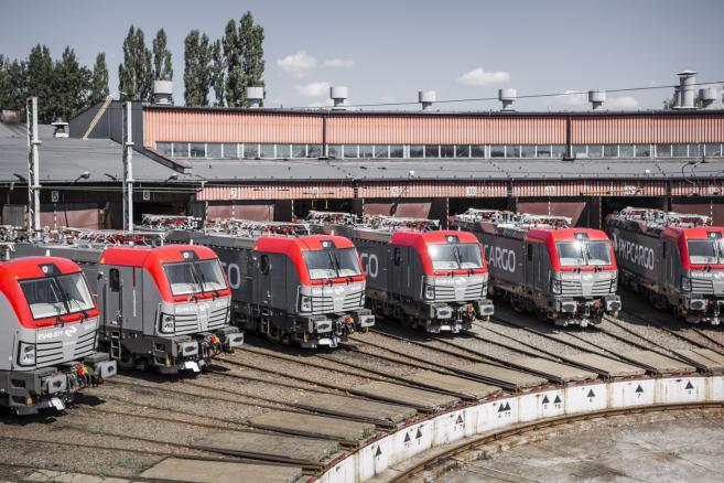 Vectrony PKP Cargo w lokomotywyni w Czechowicach