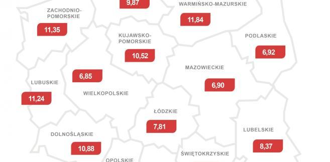 Liczba dłużników alimentacyjnych w przeliczeniu na tysiąc mieszkańców