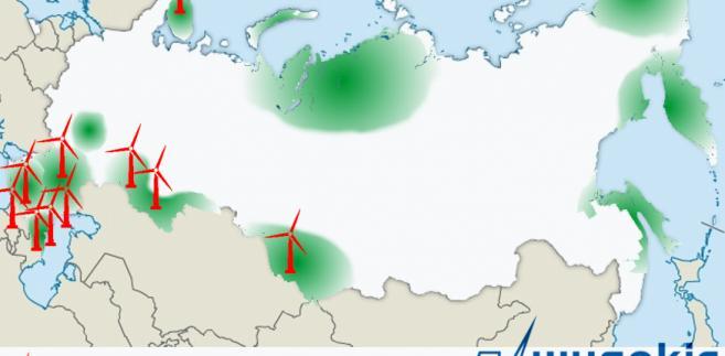 OZE Rosja mapa
