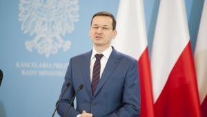 Mateusz Morawiecki podczas konferencji prasowej. Zdj. KPRM