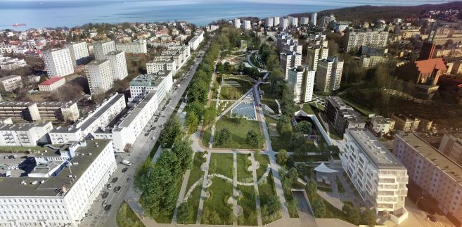 Park Centralny w Gdyni - wizualizacja. Źródło: materiały prasowe miasta
