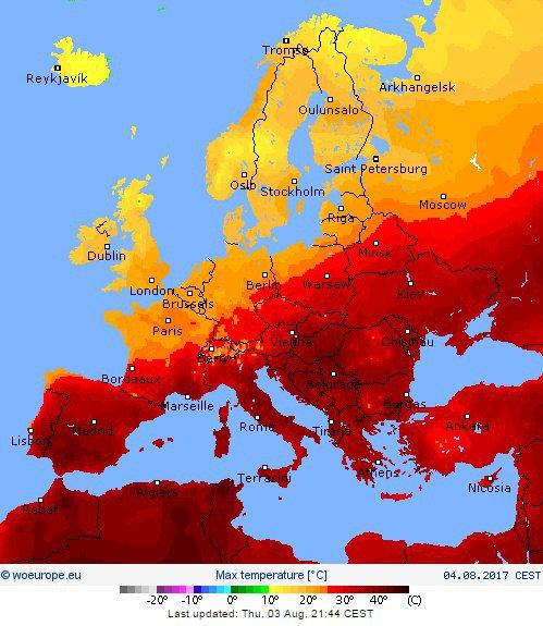Fala upałów przechodzi nad Europą, źródło: Wysokie Napięcie