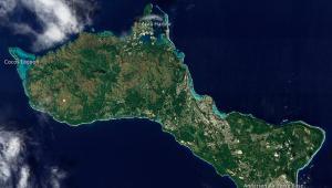 Wyspa Guam, na której znajdują się amerykańskie bazy