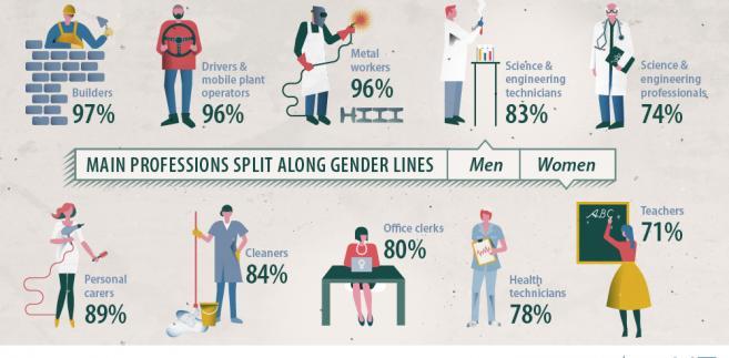Podział zawodów wg płci