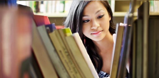Studentka z Azji