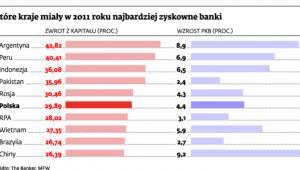 Które kraje miały w 2011 roku najbardziej zyskowne banki