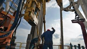 Odwierty w szybie gazu łupkowego w Teksasie