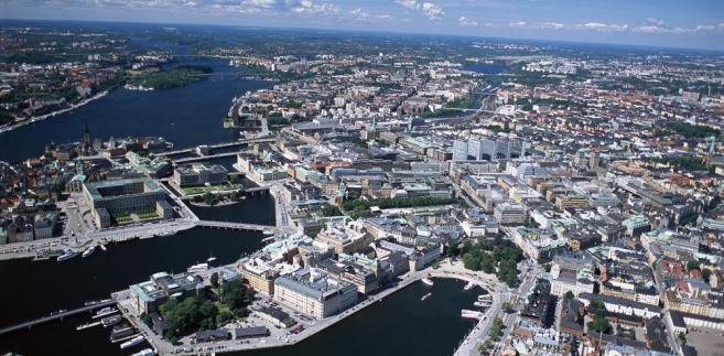 Szwecja, Sztokholm - widok z lotu ptaka