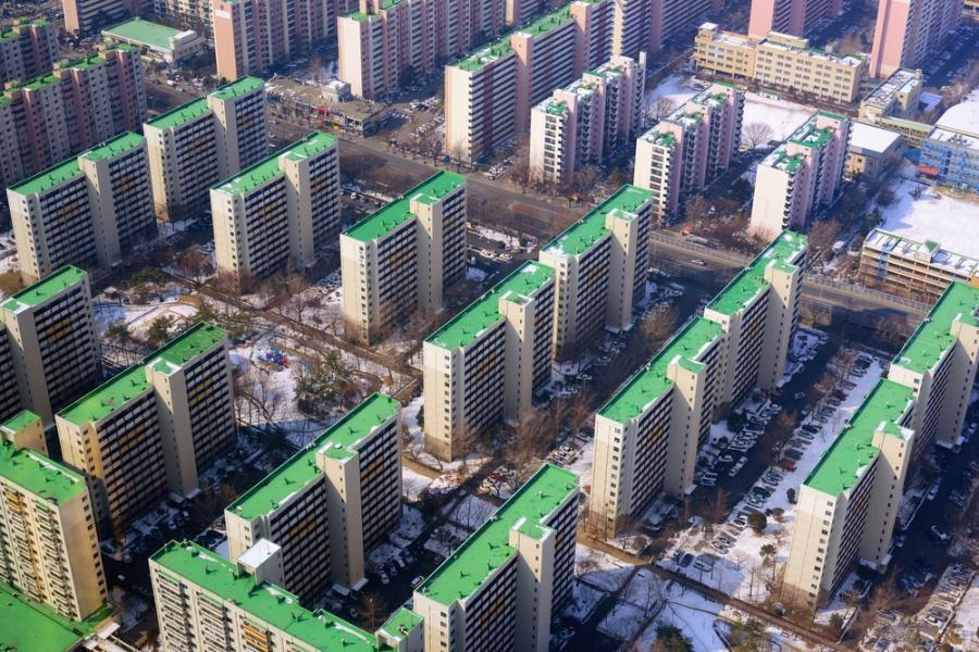 Budynki mieszkaniowe w Seulu