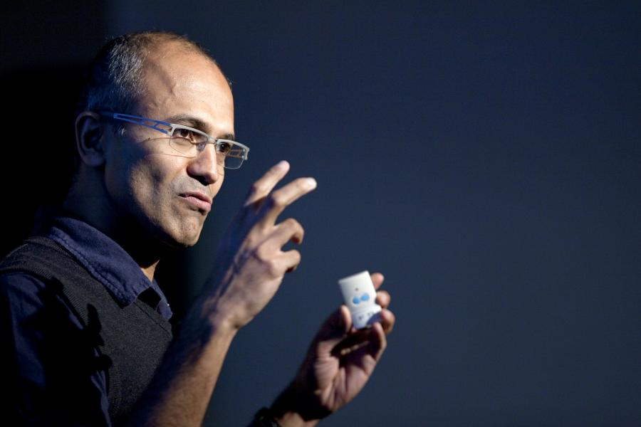 Satya Nadella, mowy szef Microsoftu.