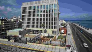 Kuba, ambasada USA EPA/ALEJANDRO ERNESTO Dostawca: PAP/EPA.