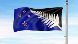 Tak możed wyglądać flaga Nowej Zelandii Fot. EPA/NEW ZEALAND GOVERNMENT HANDOUT Dostawca: PAP/EPA.