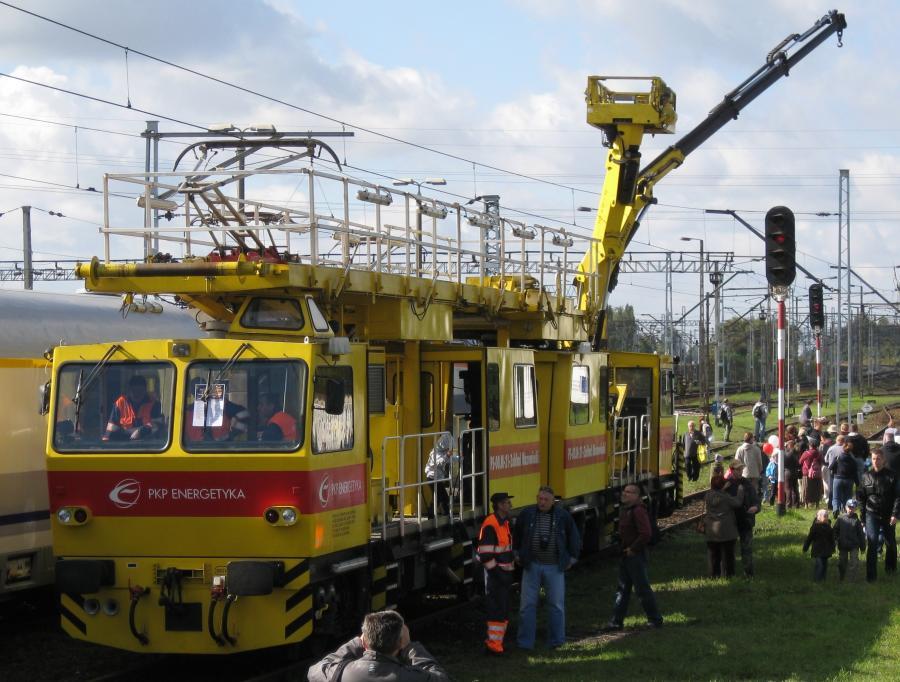Pojazd szynowy spółko PKP Energetyka,  Dni Transportu Publicznego 2010 zdj. Stowarzyszenie Miłośników Komunikacji Szynowej