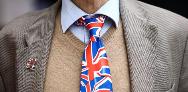 Krawat z flagą Wielkiej Brytanii, Londyn, Wielka Brytania, 10.06.2016
