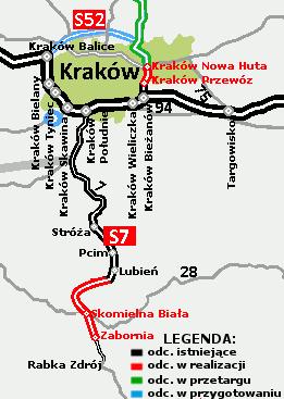 Budowa Północnej obwodnicy Krakowa w ciągu S52, źródło: GDDKiA