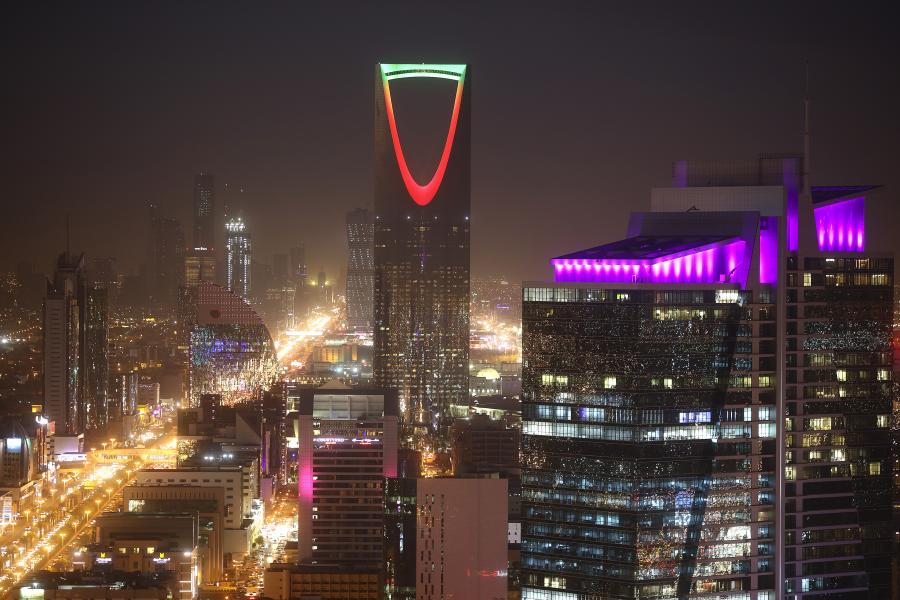 Rijad nocą, Arabia Saudyjska, 1.12.2016
