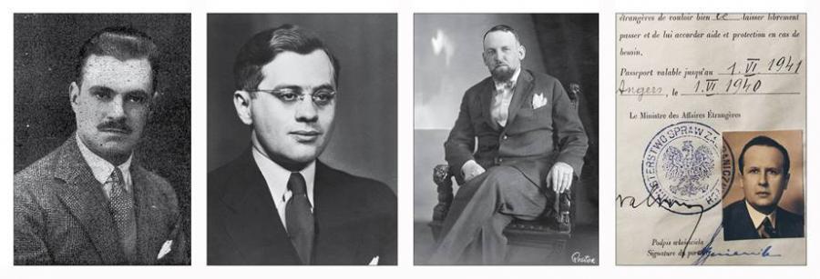 Konsul Konstanty Rokicki, Attaché ds. żydowskich poselstwa RP Juliusz Kühl, Poseł RP w Bernie Aleksander Ładoś, Stefan Jan Ryniewicz