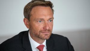 Christian Lindner, szef liberalnej FDP, Berlin, 31.08.2017