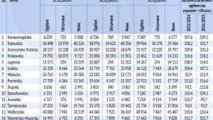 Miejsca pracy w sse (graf. Obserwator Finansowy)