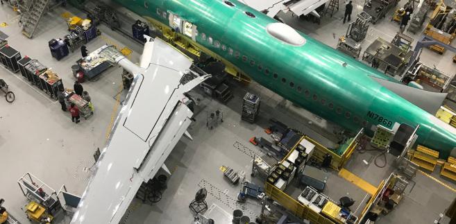 Renton, fabryka Boeinga - początek  montażu B737 MAX 8 dla LOT-u 1