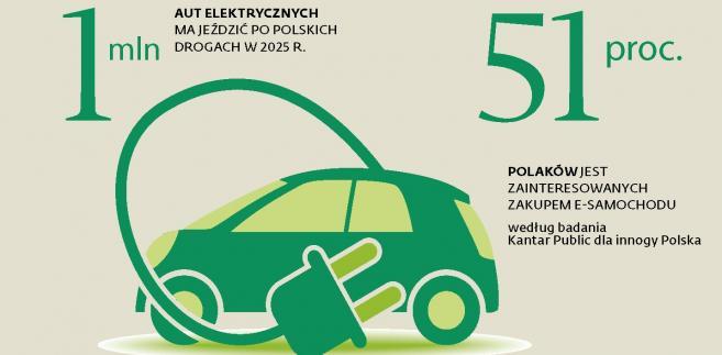 Liczby -elektryczne auta w Polsce