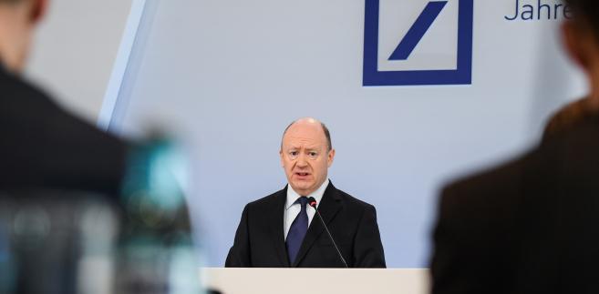 John Cryan, CEO Deutsche Banku w czasie prezentacji wyników finansowych za 2017 rok. Frankfurt, Niemcy, 2.02.2018