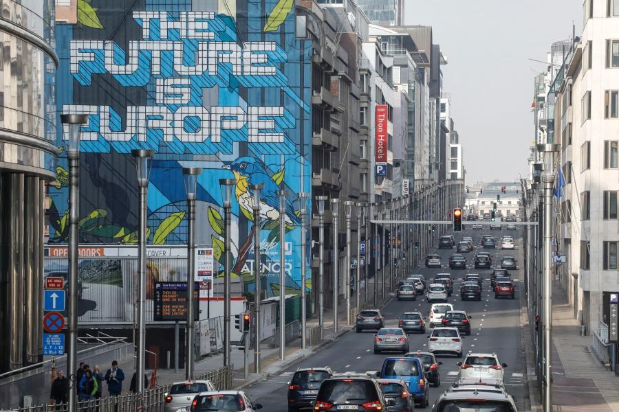 Mural w Brukseli, 25.03.2018